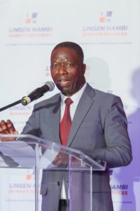 Deputy Director General of Transport Dumisani Ntuli delivering his speech at the cocktail event